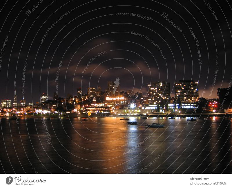 SanFran@night Hafen Amerika Kalifornien Nachtaufnahme Nordamerika San Francisco
