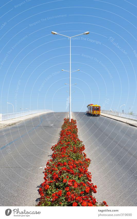 BIMMELIMMELIMM Portugal Algarve Tavira Stadt Dorf Brücke Rose Kleinbahn Ferien & Urlaub & Reisen Reisefotografie Idylle Postkarte Tourismus Paradies himmlisch