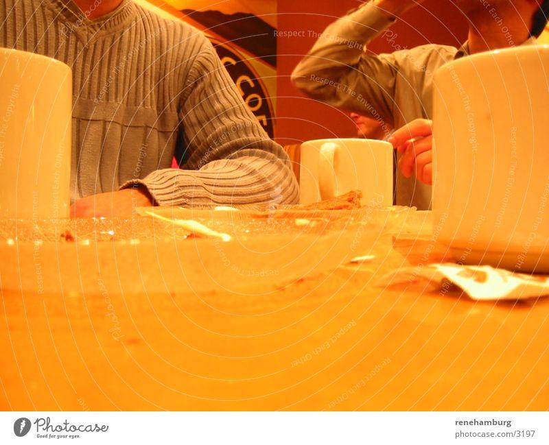 Kaffee-Klatsch Ernährung Tisch Café Tasse