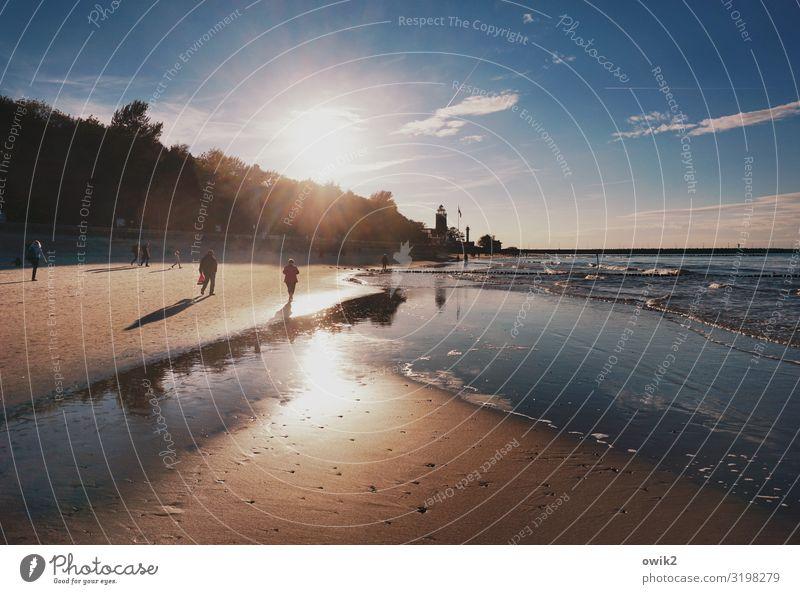 Strandgeflüster Freizeit & Hobby Ferien & Urlaub & Reisen Tourismus Sommerurlaub Sonnenbad Mensch Menschengruppe Umwelt Natur Landschaft Sand Wasser Himmel