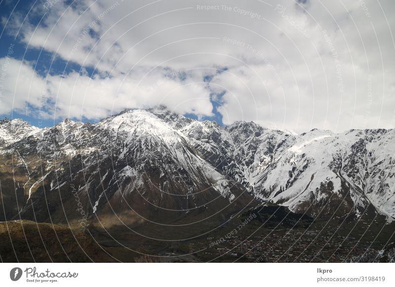 das alte Kloster mittelalterliche Architektur schön Ferien & Urlaub & Reisen Tourismus Schnee Berge u. Gebirge wandern Kultur Natur Landschaft Himmel Wolken