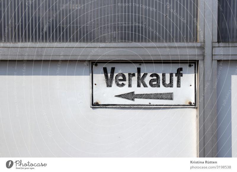 verkauf kaufen Handel Business Fassade Schilder & Markierungen Hinweisschild Warnschild Pfeil verkaufen verkaufsschild Blechschild metallschild hinweis laden