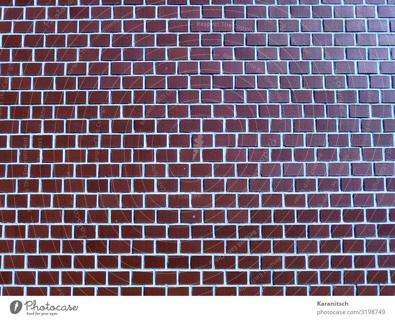 Backsteinmauer Hausbau Architektur Bauwerk Mauer Wand bauen braun rot Schutz ruhig Stil Backsteinwand Fassade Strukturen & Formen Hintergrundbild rustikal Linie