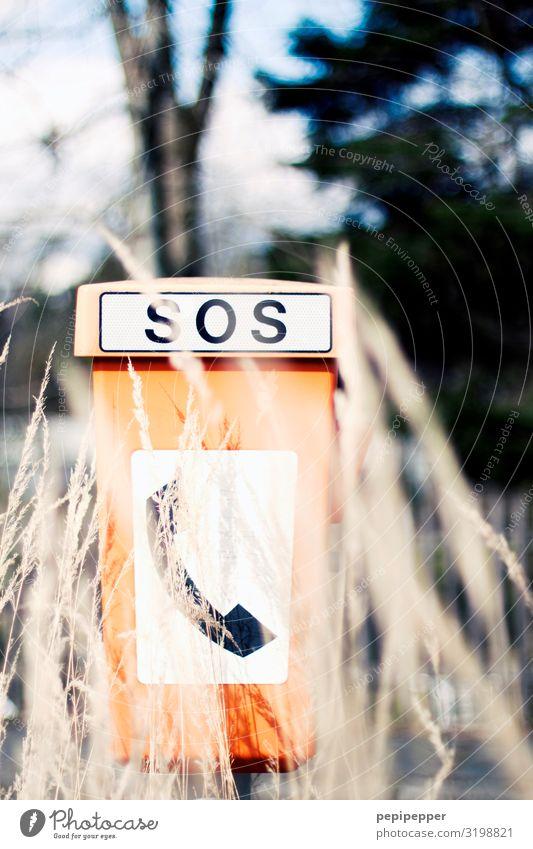 SOS Ferien & Urlaub & Reisen Ausflug Telefon Notruf Notrufauslöser Notrufsäule Informationstechnologie Landschaft Pflanze Gras Verkehr Personenverkehr
