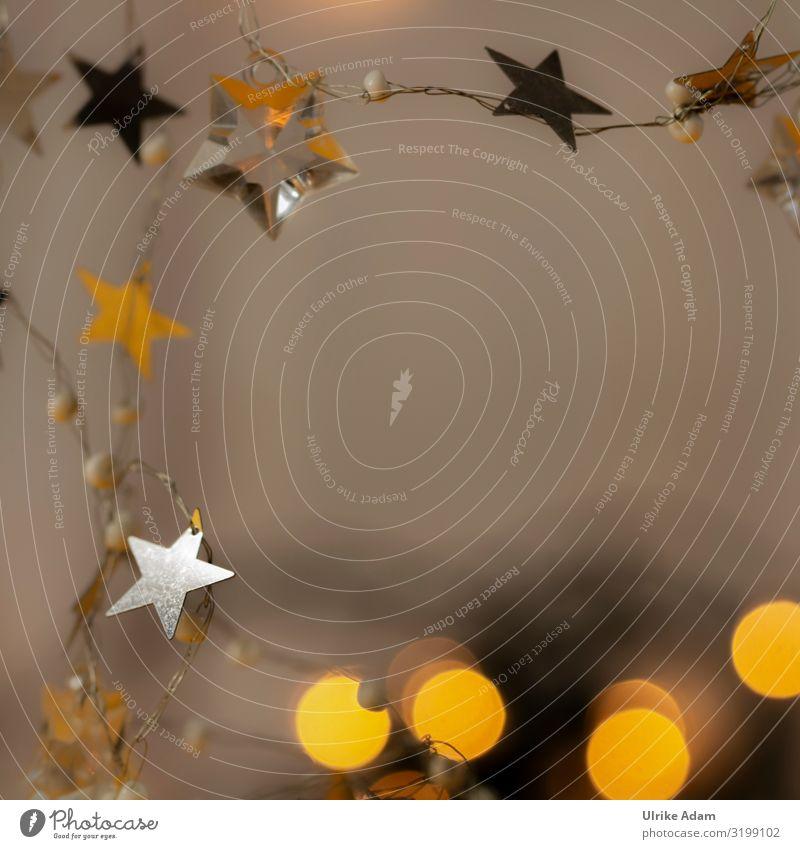 Weihnachts-Sterne und Lichter Weihnachten & Advent schön Hintergrundbild Feste & Feiern außergewöhnlich orange Stimmung Design Dekoration & Verzierung leuchten
