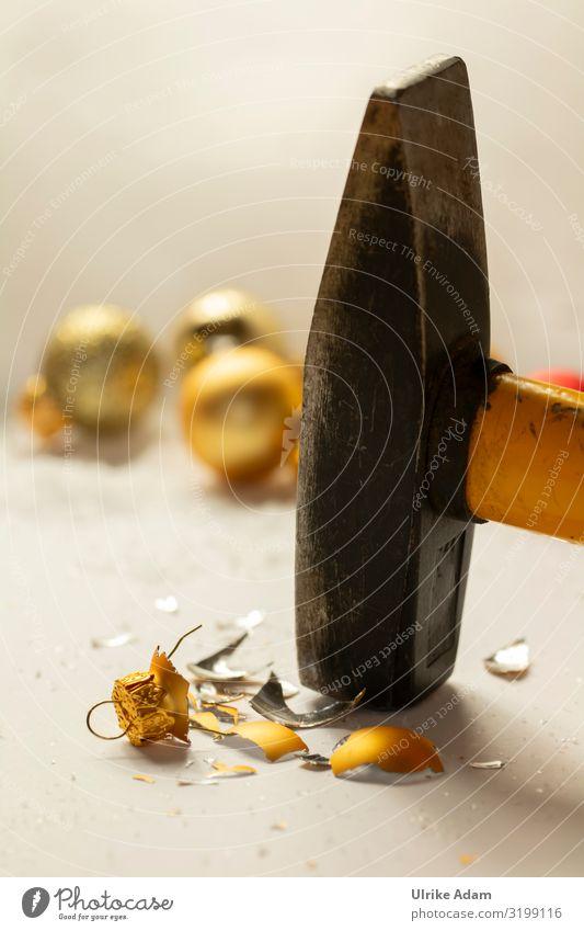 Null Bock auf Weihnachten! Design Weihnachten & Advent Dekoration & Verzierung Christbaumkugel Hammer Metall Zeichen Kugel Aggression kaputt Kitsch rebellisch