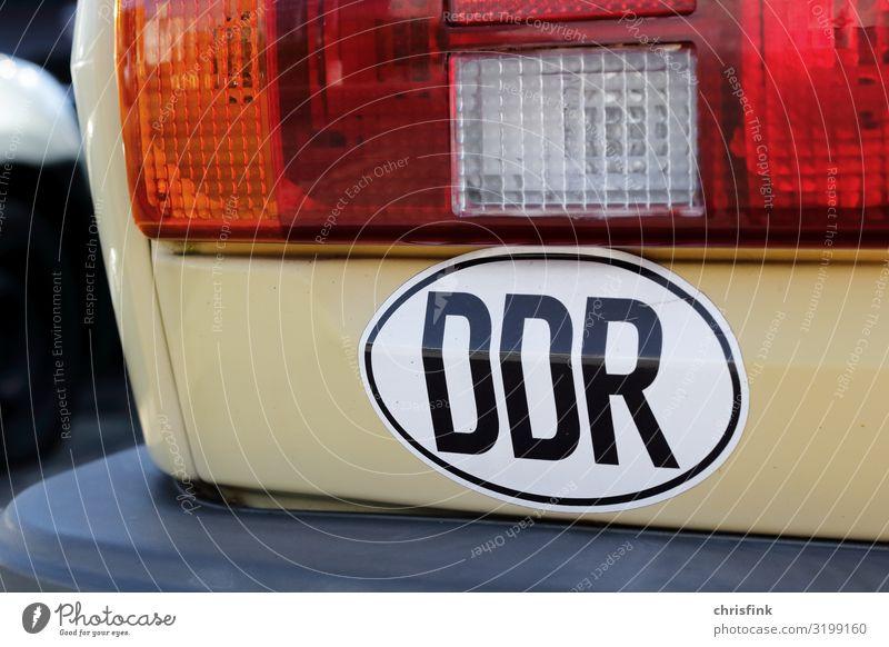 DDR Aufkleber auf Auto Arbeit & Erwerbstätigkeit Wirtschaft Verkehr Straßenverkehr Autofahren Fahrzeug PKW Zeichen Ärger Armut Tourismus Deutschland