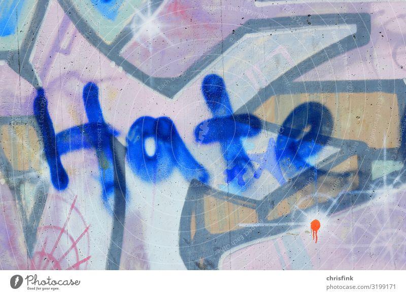 Hate Graffiti Lifestyle Freizeit & Hobby Dekoration & Verzierung Kunst Künstler Maler Verkehrswege Tunnel Brücke schreiben Aggression dreckig hässlich