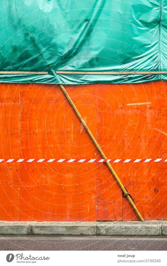 City background Stadt grün Wand Mauer orange Linie Schilder & Markierungen Wandel & Veränderung bedrohlich Pause Baustelle geheimnisvoll Asien Überraschung