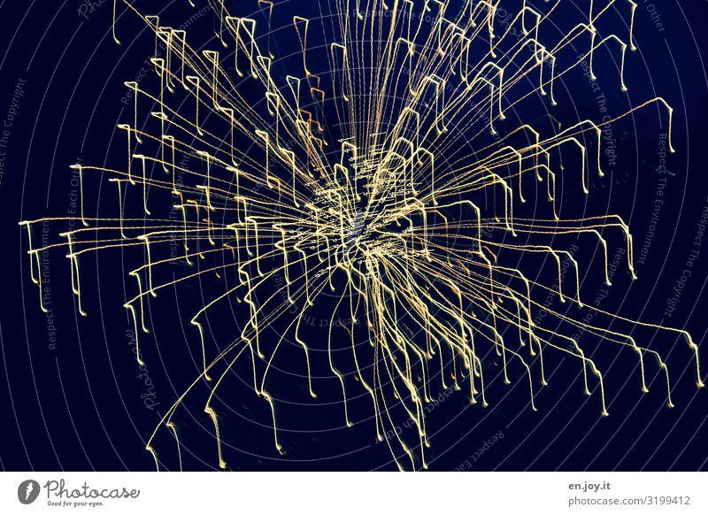 Lichtmalen Nachtleben Entertainment Party Veranstaltung Feste & Feiern Weihnachten & Advent Silvester u. Neujahr Jahrmarkt blau Lebensfreude Begeisterung bizarr