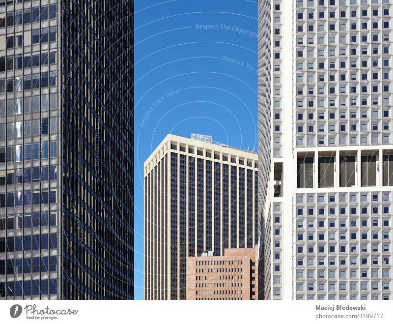New Yorker Wolkenkratzer, architektonischer Hintergrund. Städtereise Häusliches Leben Wohnung Büro Baustelle Business Stadt Hochhaus Bankgebäude Gebäude