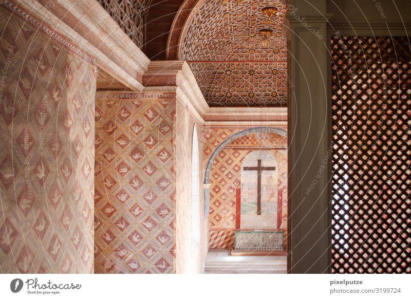Musterkreuz Dekoration & Verzierung Kirche Palast Burg oder Schloss Bauwerk Gebäude Architektur Kreuz Religion & Glaube Tourismus Tradition Portugal Christentum