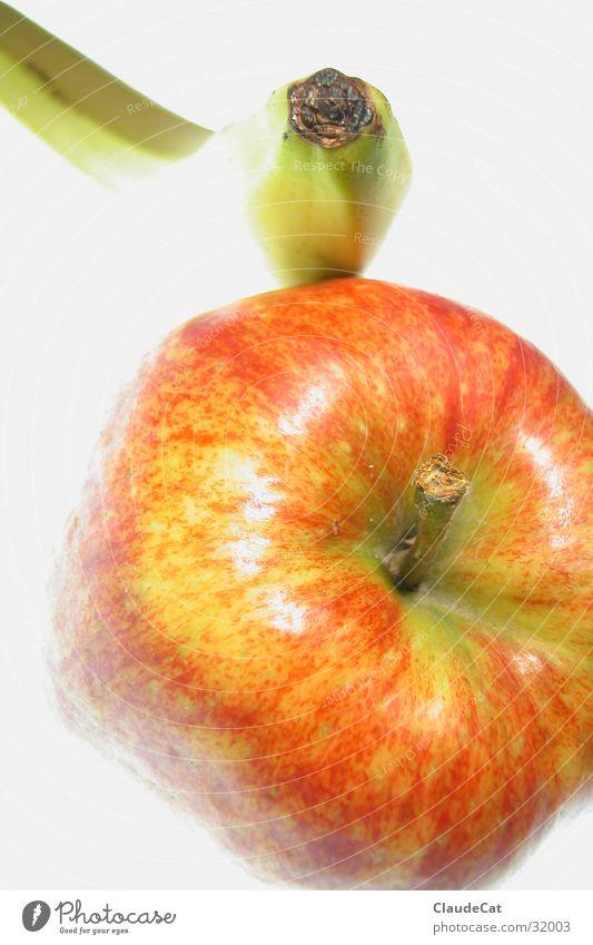 Obstfreundschaft rot Stimmung Gesundheit Frucht Apfel Stillleben Banane