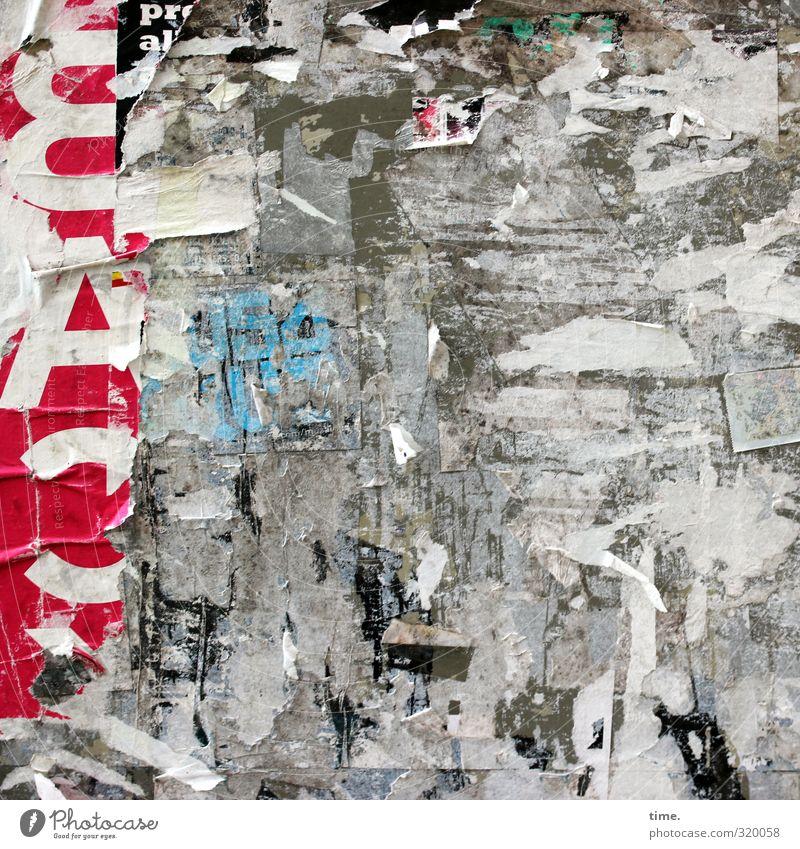 Pinwand (unauthorized public version) Stadt Wand Tod Mauer Stimmung Kunst dreckig authentisch Schilder & Markierungen verrückt Schriftzeichen ästhetisch kaputt Papier Zeichen Kreativität