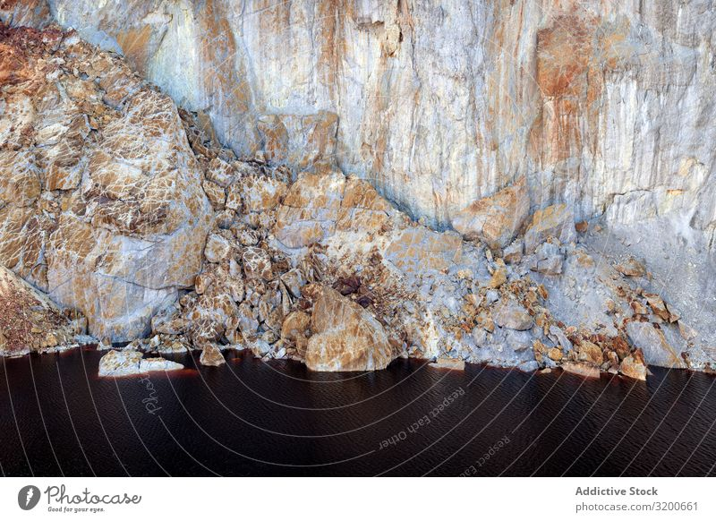 Erstaunliche Berglandschaft bei Sonnenaufgang Landschaft Natur industriell Hügel erstaunlich Geologie majestätisch Huelva