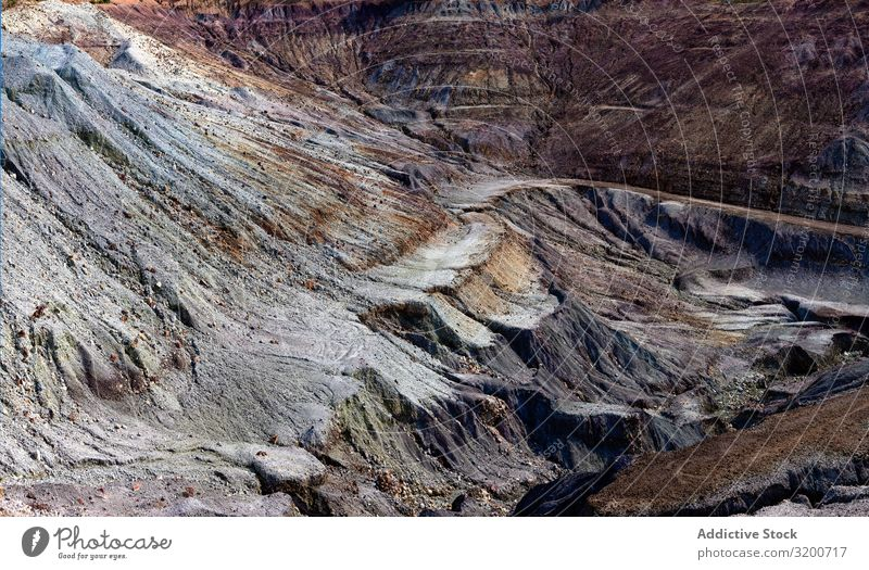 Bergbau-Terrassen im Riotinto, Huelva Berge u. Gebirge Aufruhr Schwefel Geologie Hügel Sediment Kupfer Rio de Janeiro Mine Spanien Andalusia Pyrit natürlich