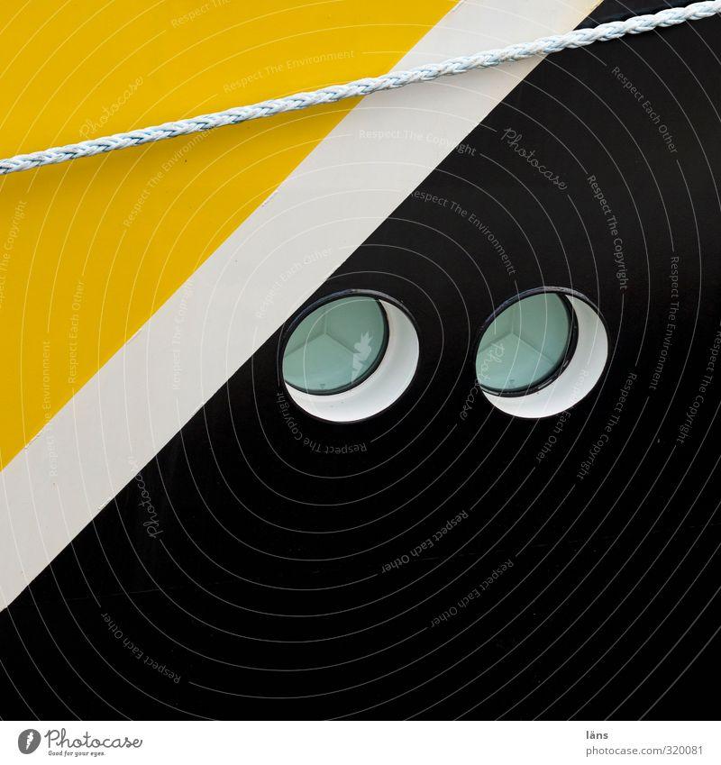 schwarz zu gelb weiß Farbe Wasserfahrzeug Seil Bullauge
