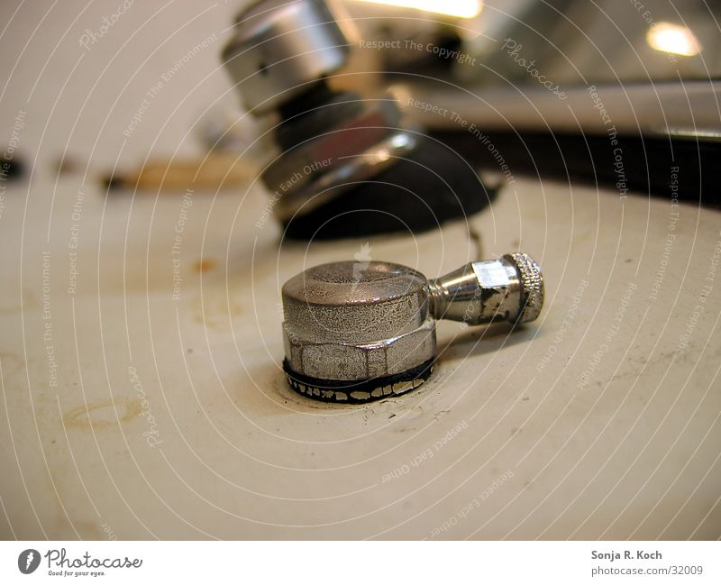 Wischanlagen-Düse Scheibenwischer Oldtimer Elektrisches Gerät Technik & Technologie PKW Scheibenwischanlage Metall Detailaufnahme Makroaufnahme