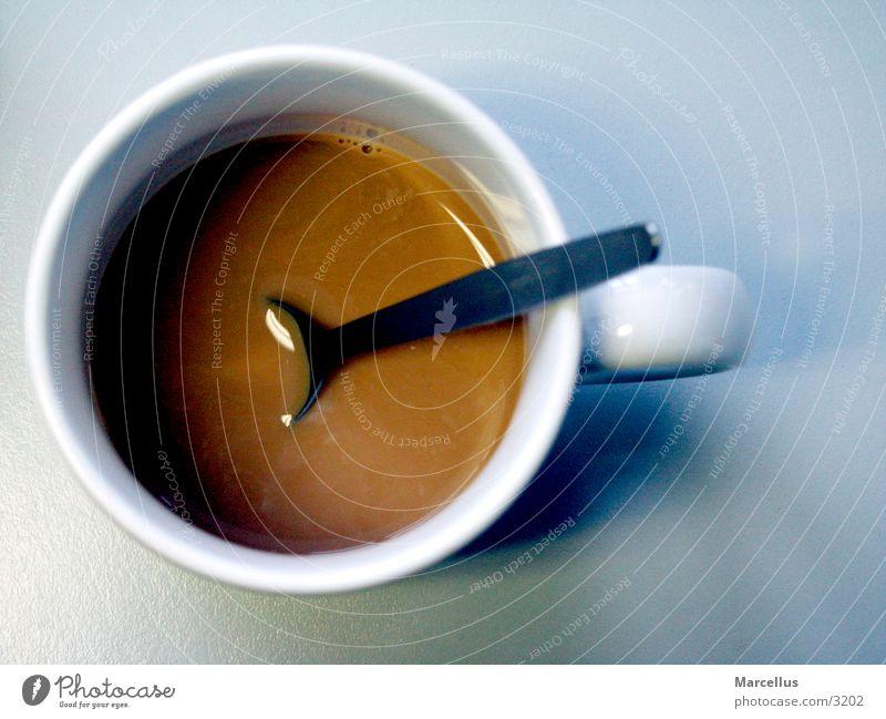 Kaffeetasse weiß Tasse Vogelperspektive