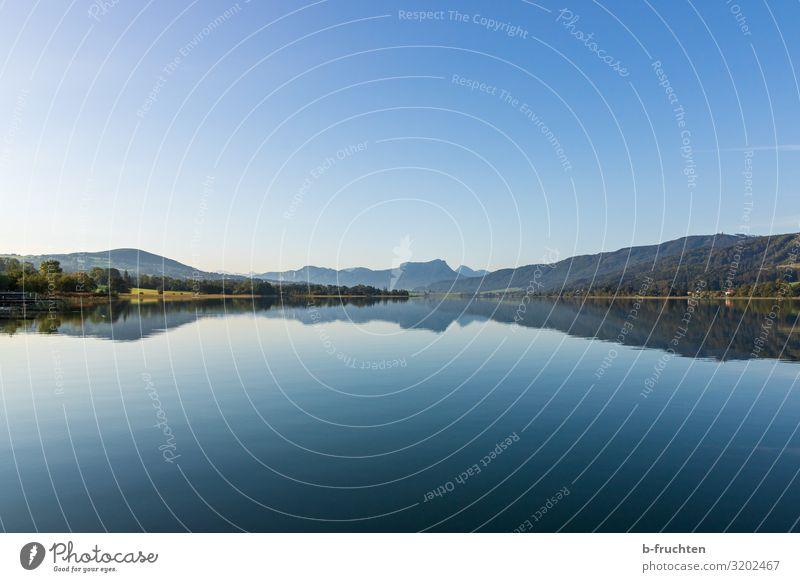 schönes Bergpanorama am Irrsee, Österreich Ferien & Urlaub & Reisen Tourismus Ferne Berge u. Gebirge wandern Natur Landschaft Himmel Herbst Schönes Wetter Wald