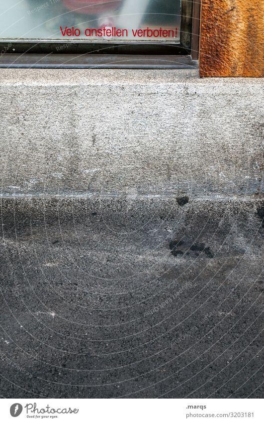 Velo City Fenster Wand Wege & Pfade Mauer Schriftzeichen Fahrrad Bürgersteig Verkehrswege Verbote Basel Parkverbot