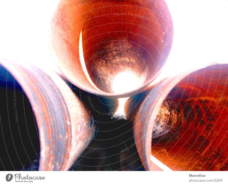 Rohre Baustelle durchsichtig Industrie Nahaufnahme Röhren