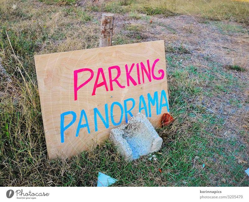 Parking Panorama Verkehr Verkehrswege Straßenverkehr Autofahren Parkverbot Parkplatz Parkplatzsuche Parkplatzmangel Holz Schriftzeichen Schilder & Markierungen
