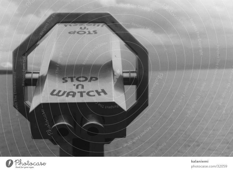 stop 'n watch Wasser weiß Meer schwarz Wolken See Landschaft Nebel Aussicht Freizeit & Hobby Fernglas
