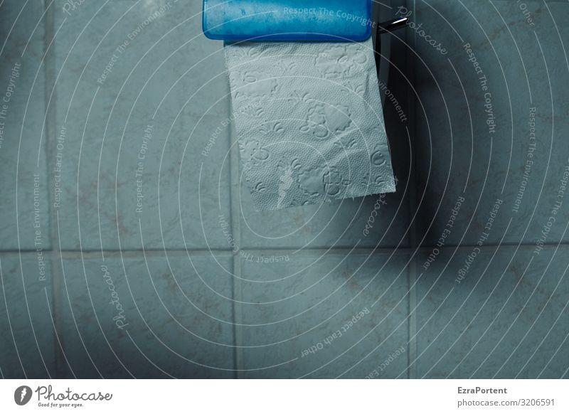 Abreißkalender blau schön weiß Wand Mauer grau Papier Bad Körperpflege Fliesen u. Kacheln Toilette Zerreißen Toilettenpapier