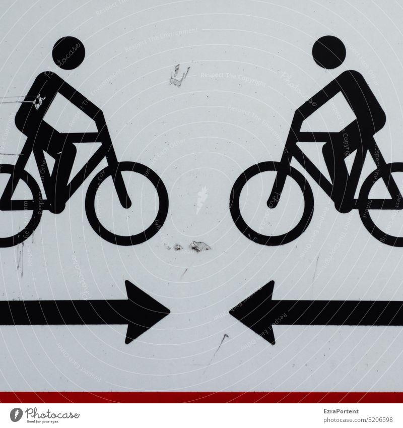 Treffpunkt Mensch Freundschaft Paar Partner Erwachsene Leben 2 Verkehr Verkehrsmittel Verkehrswege Personenverkehr Straßenverkehr Fahrradfahren Verkehrszeichen