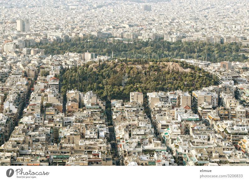 Athen Ferien & Urlaub & Reisen Tourismus Sightseeing Park Griechenland Hauptstadt Stadtzentrum bevölkert überbevölkert Haus Gebäude gigantisch Unendlichkeit