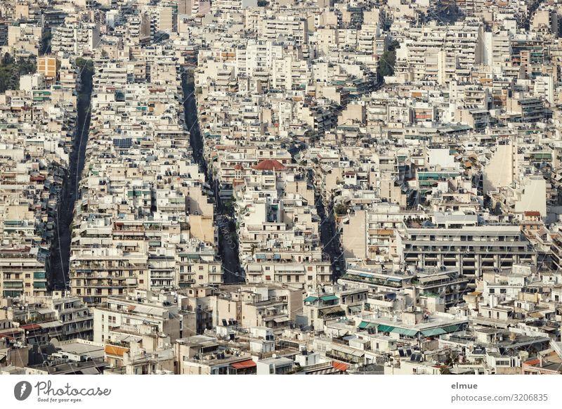 Athen Lifestyle Ferien & Urlaub & Reisen Städtereise Häusliches Leben Griechenland Hauptstadt Stadtzentrum bevölkert überbevölkert Haus Hochhaus Bankgebäude