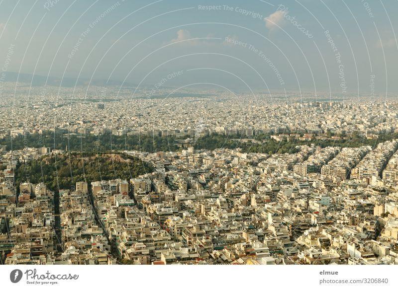 Athen Ferien & Urlaub & Reisen Ausflug Sightseeing Städtereise Griechenland Hauptstadt Stadtzentrum bevölkert überbevölkert Haus Gebäude gigantisch