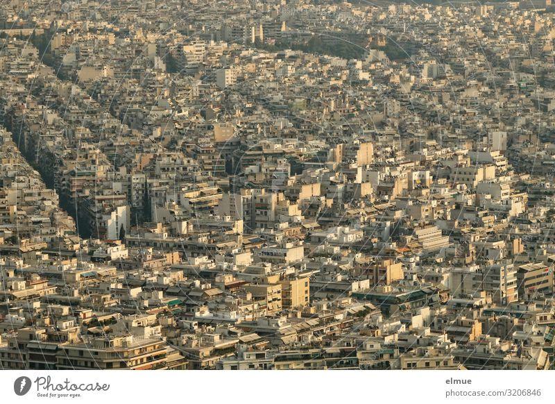 Athen Ferien & Urlaub & Reisen Tourismus Sightseeing Städtereise Griechenland Hauptstadt Stadtzentrum überbevölkert Haus Hochhaus Gebäude gigantisch groß