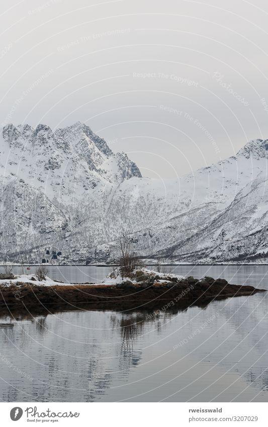 Sildpollholmen Insel-Sildpolltjonna Bucht-Vagan-Lofoten-Norwegen-123 ruhig Ferien & Urlaub & Reisen Tourismus Ausflug Sightseeing Meer Winter Schnee