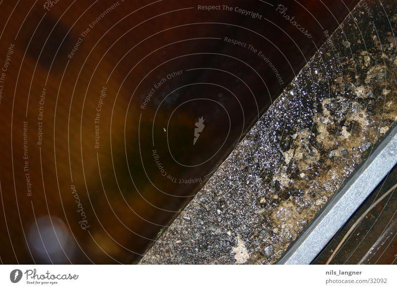 von oben 2 oben grau braun Hintergrundbild Ecke Stahl obskur diagonal Am Rand Anschnitt Bildausschnitt