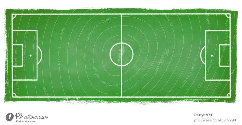 Fußballplatz grün Sport Freizeit & Hobby Grafik u. Illustration Spielfeld