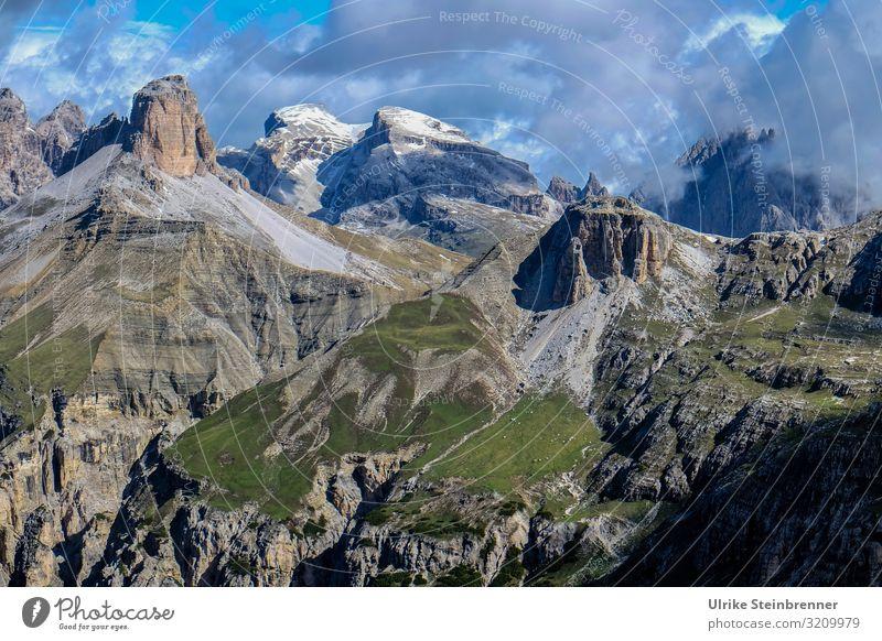 Bergkulisse Himmel Ferien & Urlaub & Reisen Natur Sommer Landschaft Wolken Berge u. Gebirge Umwelt natürlich Tourismus Freiheit Ausflug wandern liegen Abenteuer
