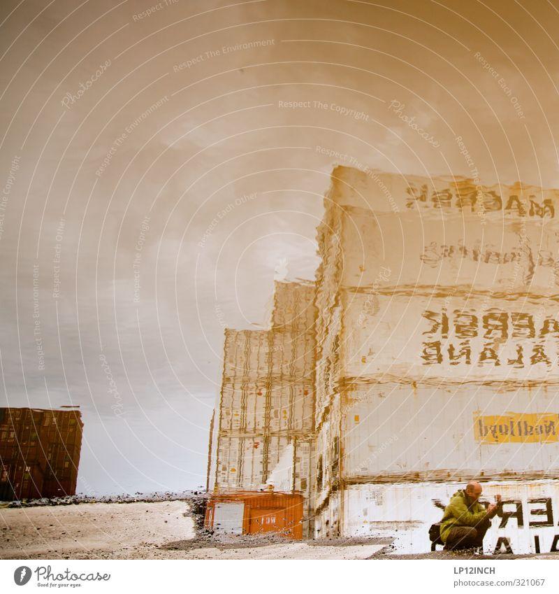 WILHELMSBURG | FOTOGEN Freizeit & Hobby Industrie maskulin Mann Erwachsene Körper 1 Mensch 30-45 Jahre Wilhelmsburg Hafenstadt Industrieanlage Container Wasser