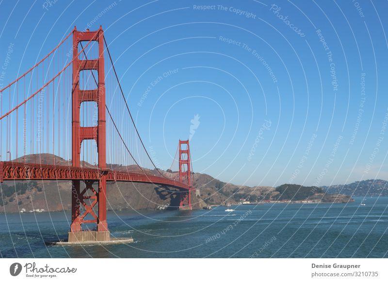 Golden Gate Brige in San Francisco USA Lifestyle Ferien & Urlaub & Reisen Tourismus Ausflug Ferne Sightseeing Städtereise Sonne Strand Hand Stadtzentrum Skyline