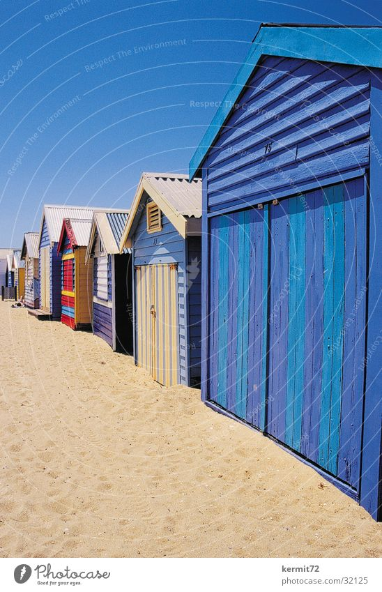 Strandhütten Sonne Ferien & Urlaub & Reisen Sand streichen Australien Blauer Himmel Holzhütte