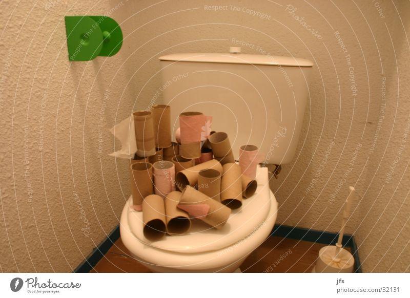 Toilettenpapierrollen Häusliches Leben Toilette Rolle Konsum Toilettenpapier