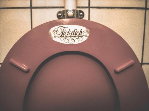 Stehpinkler Toilette WC Toilettenbrille WG Student Lifestyle Innenarchitektur Häusliches Leben Wohnung Dekoration & Verzierung Schriftzeichen Telekommunikation