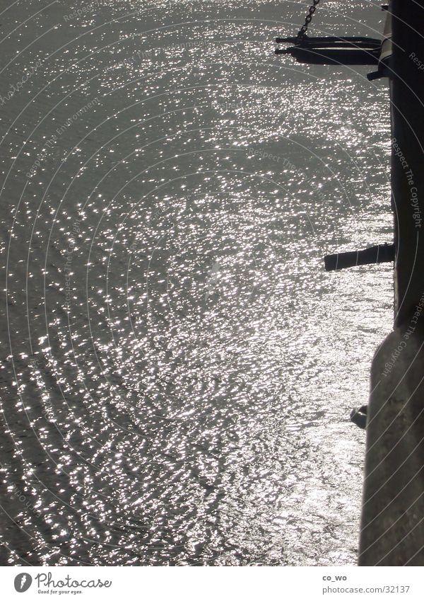 Sonnenlicht im Meer Wasser Ferien & Urlaub & Reisen Wasserfahrzeug Stimmung glänzend Romantik Zauberei u. Magie Lichtschein