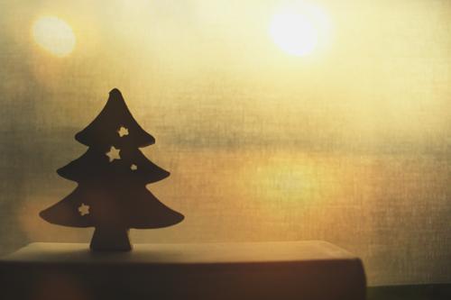 Im goldenen Licht Feste & Feiern Weihnachten & Advent leuchten gelb schwarz Weihnachtsdekoration Weihnachtsbaum Tanne Dekoration & Verzierung Warmes Licht
