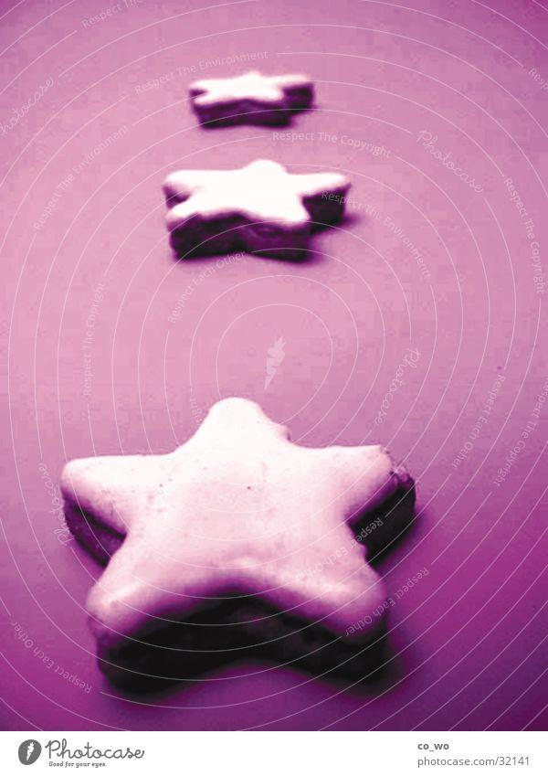 Zimtsternschimmer Weihnachten & Advent glänzend süß Stern (Symbol) violett Plätzchen Weihnachtsgebäck