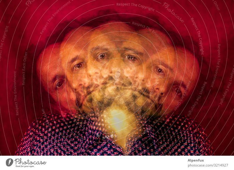 Fünffux Mensch Mann Erwachsene Religion & Glaube außergewöhnlich Zusammensein Angst maskulin träumen 45-60 Jahre gefährlich bedrohlich Todesangst Zukunftsangst