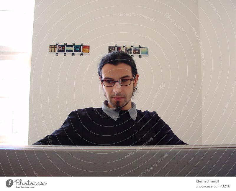 Mensch Brille Typ Man