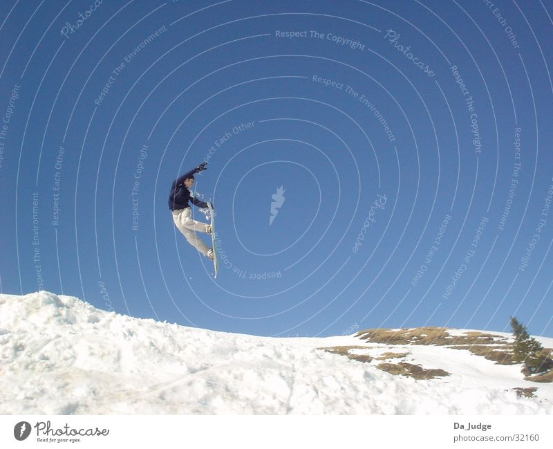 Snowboarding Winter Berge u. Gebirge Schnee Sport Snowboarding Snowboarder Wintersport Kitzbüheler Alpen Air