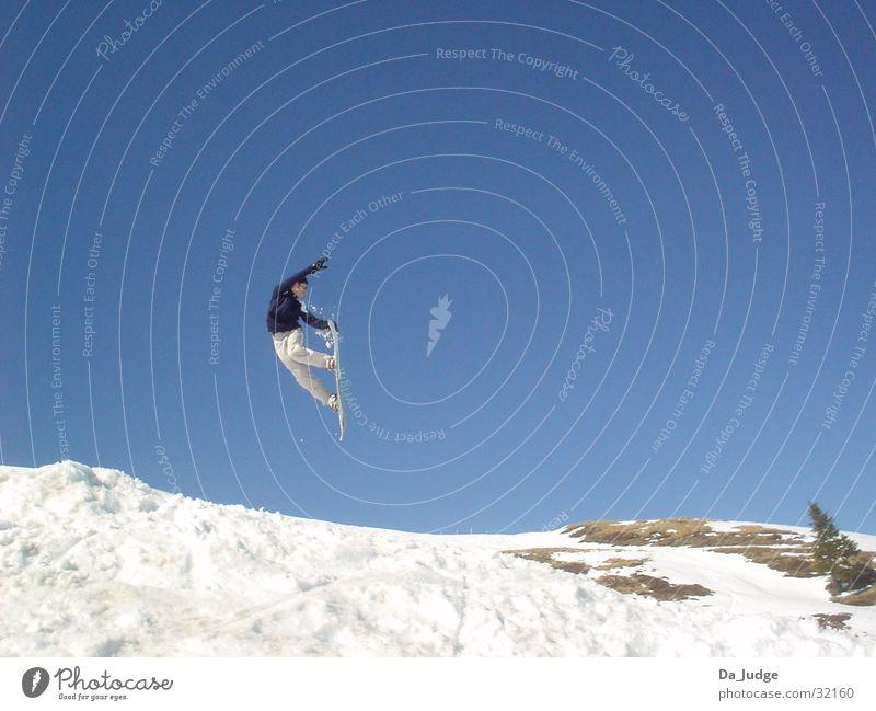 Snowboarding Winter Berge u. Gebirge Schnee Sport Snowboarder Wintersport Kitzbüheler Alpen Air